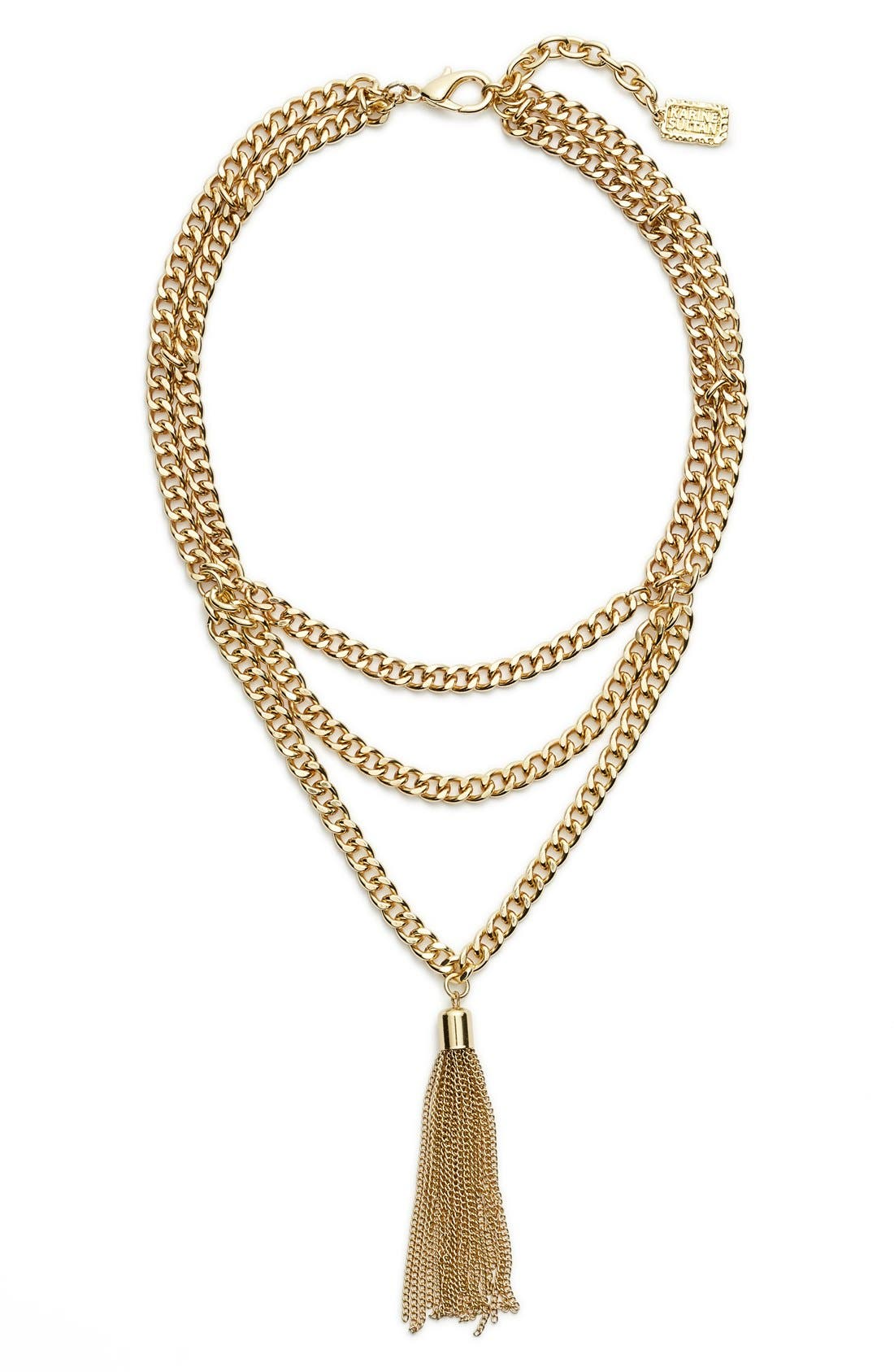Karine Sultan Layered Y-Necklace