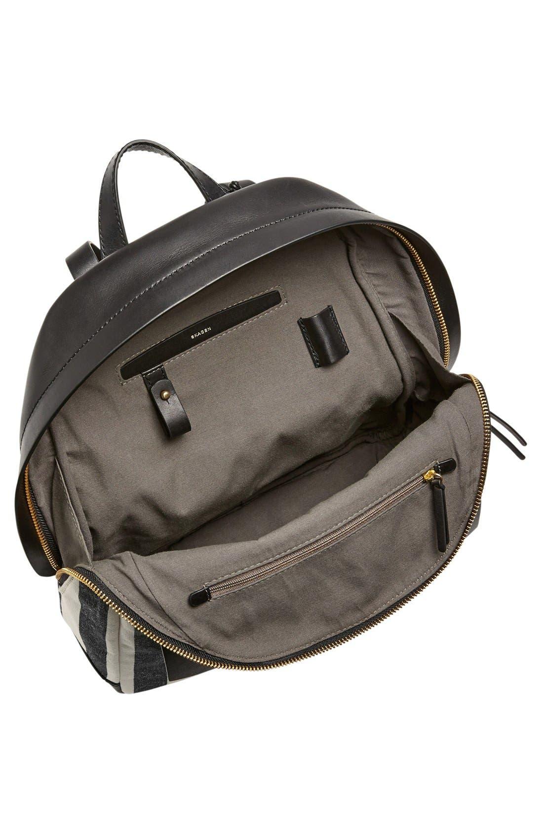 Alternate Image 3  - Skagen 'Aften' Stripe Canvas Backpack