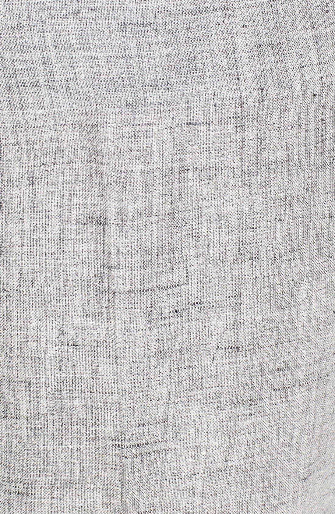 Alternate Image 3  - Michael Kors Pleated Crop Mélange Linen Pants