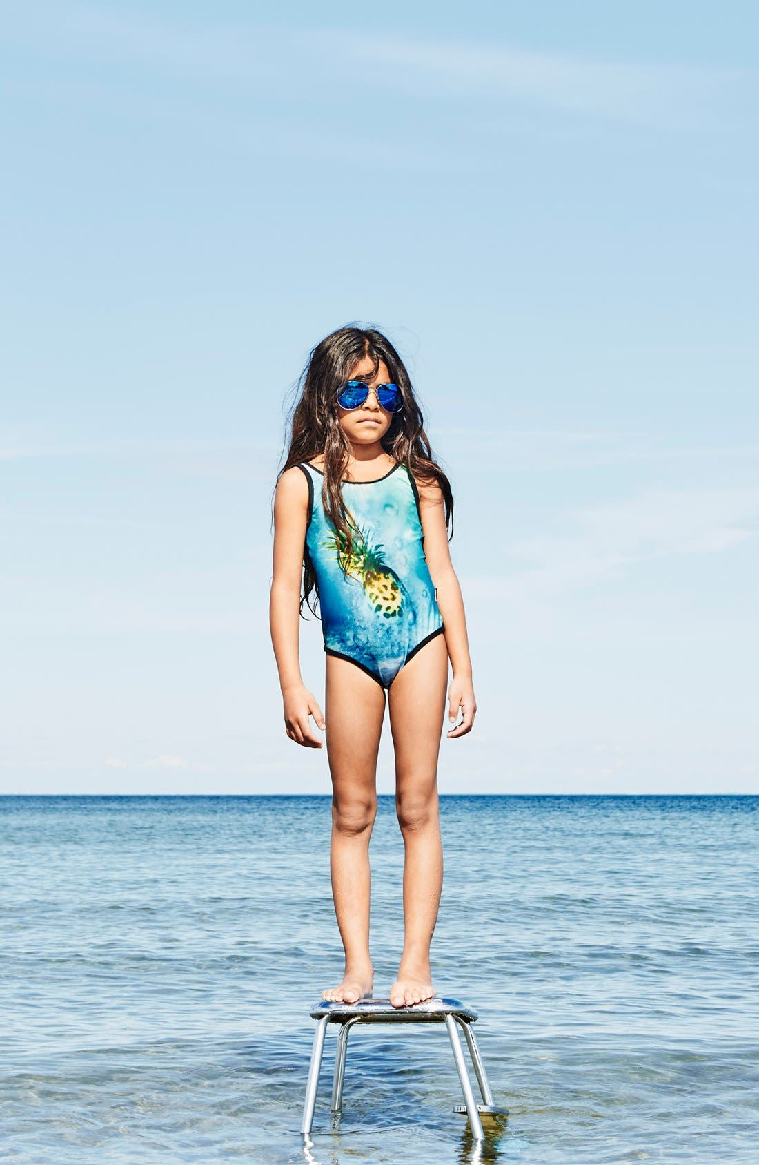 Alternate Image 2  - molo 'Nika' One-Piece Swimsuit (Toddler Girls, Little Girls & Big Girls)