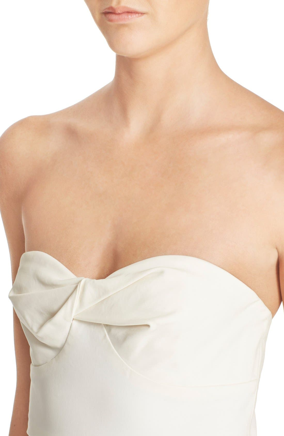Alternate Image 4  - Veronica Beard Strapless Bandeau Dress