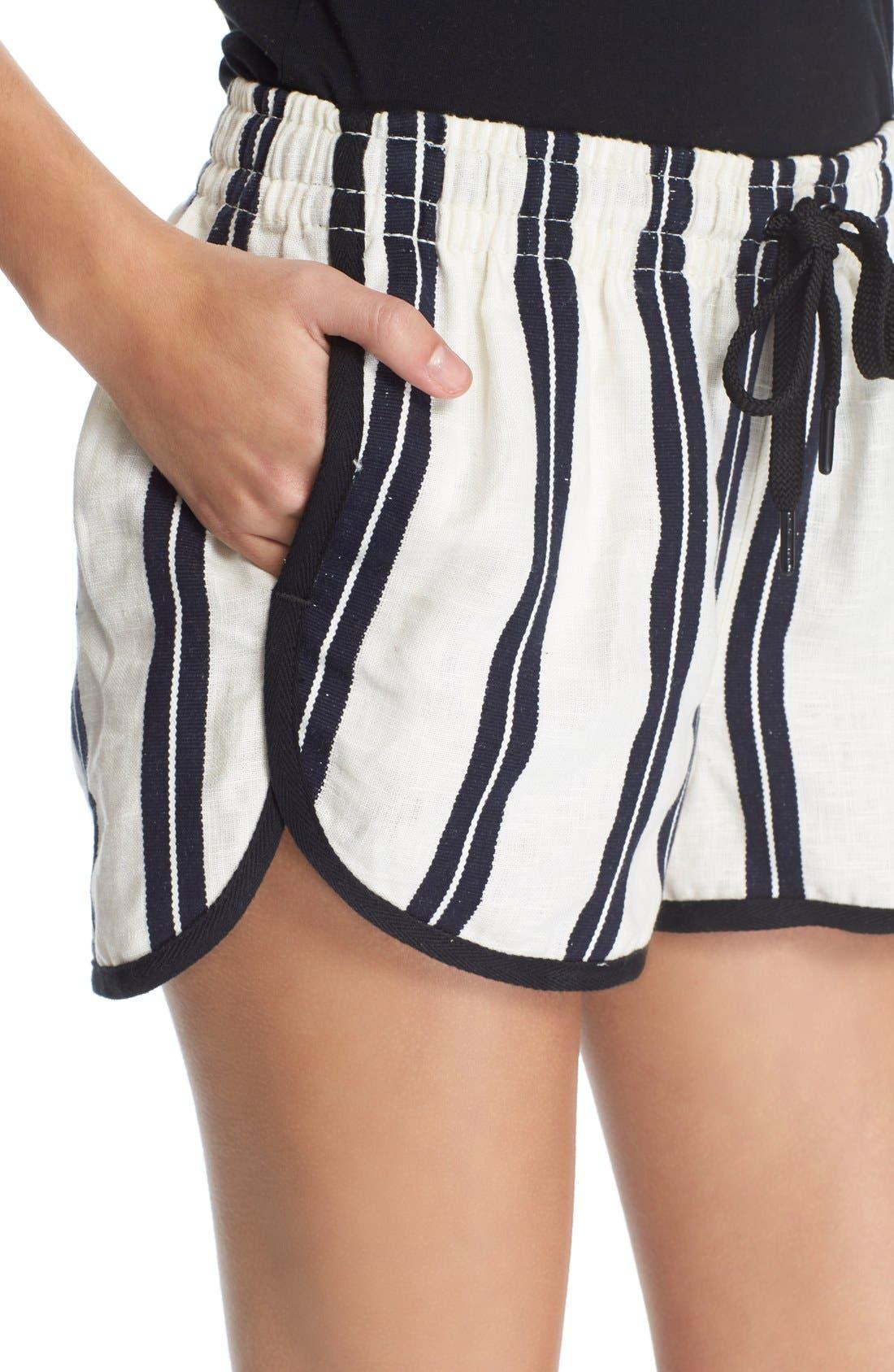 Alternate Image 4  - rag & bone/JEAN 'Beach' High Rise Stripe Shorts
