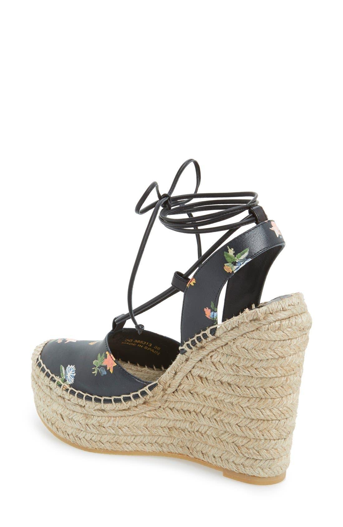 Alternate Image 2  - Saint Laurent Espadrille Wedge Sandal (Women)