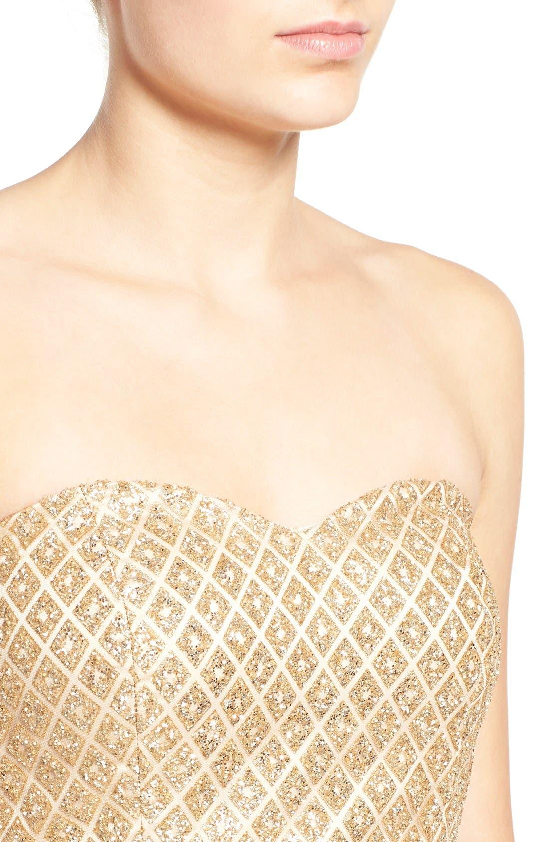 Alternate Image 4  - a. drea Strapless Glitter Bodice Fit & Flare Dress