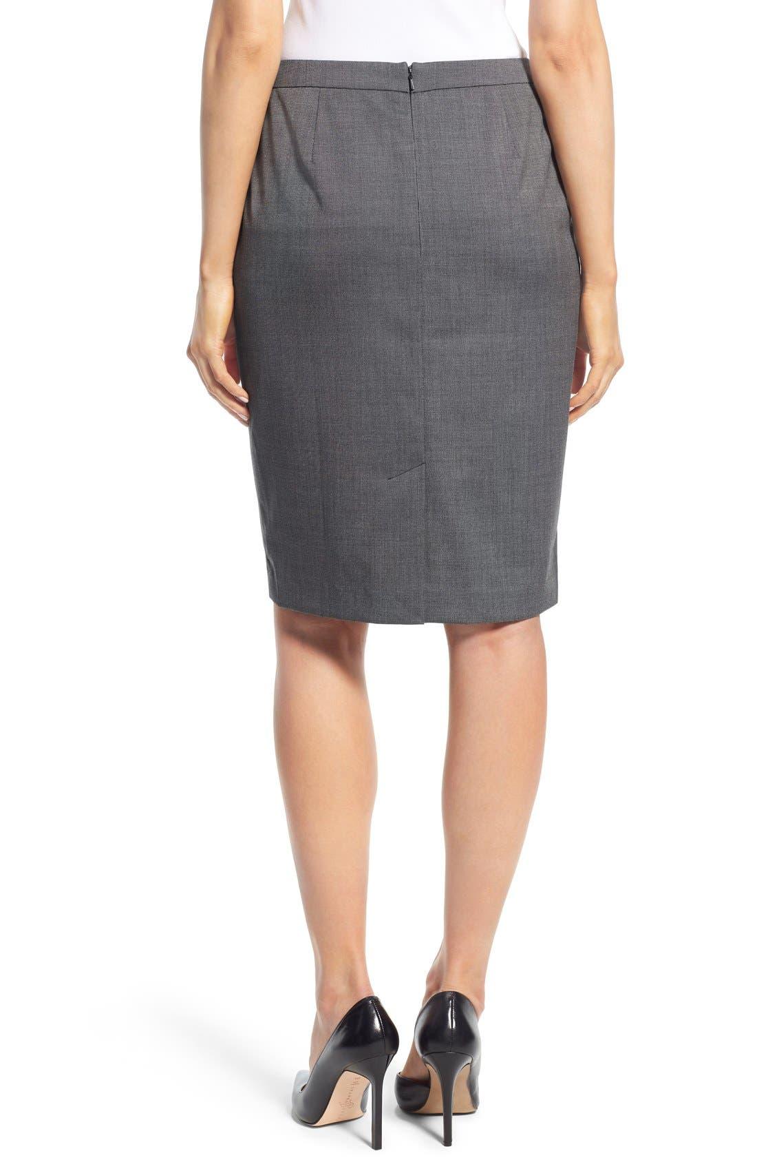 Alternate Image 3  - Halogen® 'Mini Grid' Stretch Suit Skirt (Regular & Petite)
