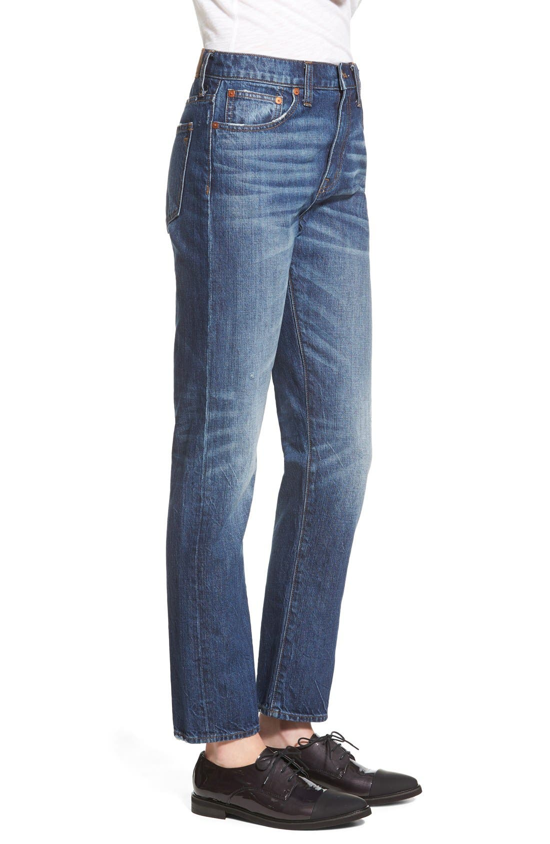Alternate Image 3  - Madewell Crop Straight Leg Jeans (Preston)