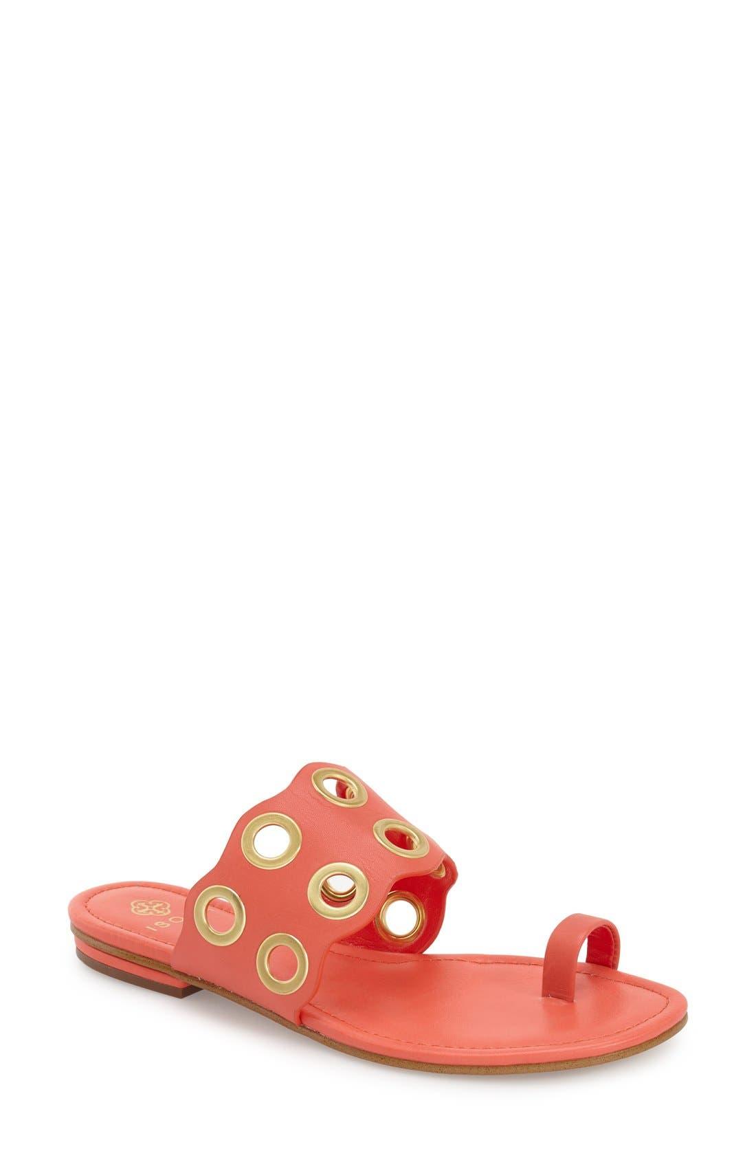 Main Image - Isolá 'Milo' Grommet Flat Sandal (Women)