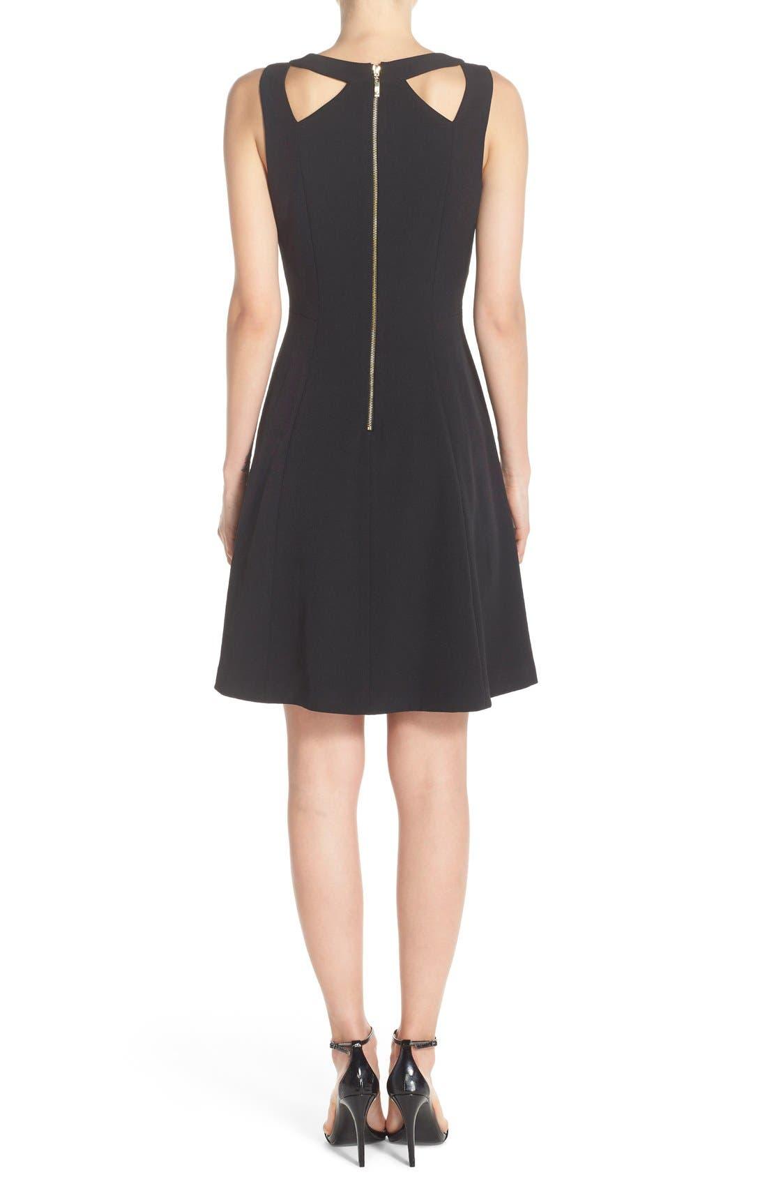 Alternate Image 2  - Eliza J Cutout Crepe Fit & Flare Dress