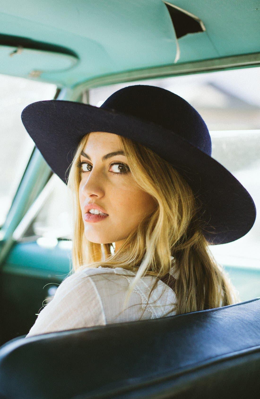 Alternate Image 5  - Brixton'Magdalena' Wide Brim Wool Felt Hat