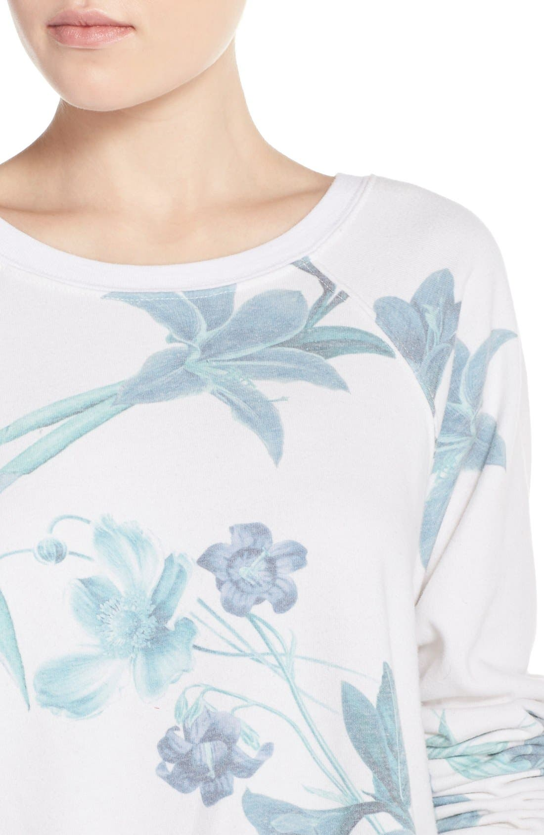 Alternate Image 4  - 35mm 'Jenna' Floral Sweatshirt