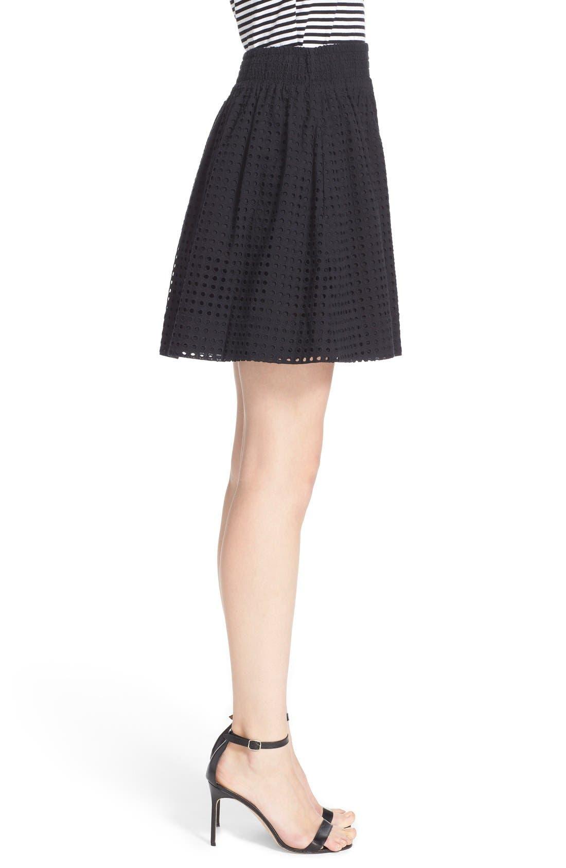Alternate Image 3  - kate spade new york 'blaire' eyelet miniskirt