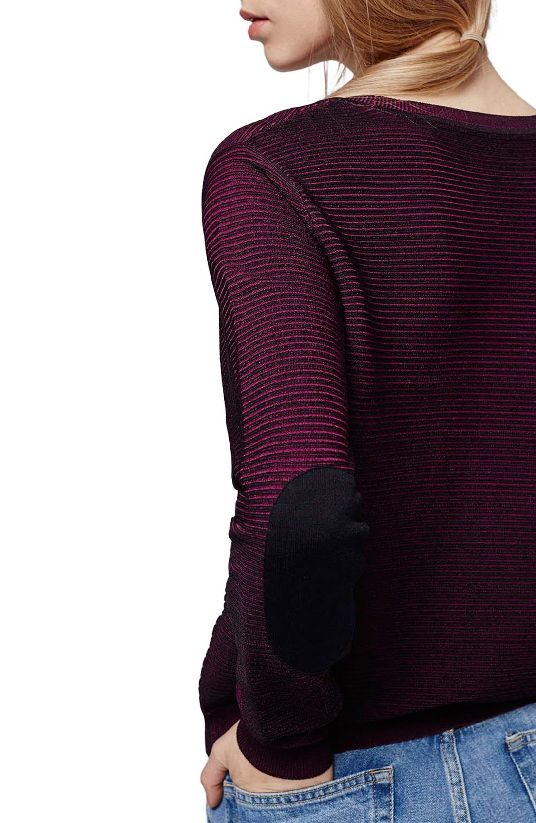 Alternate Image 5  - Topshop Ribbed Sweater with Elbow Patches