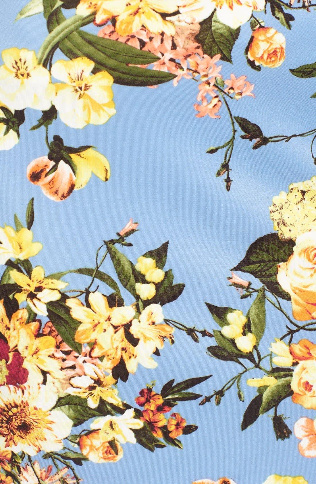 Alternate Image 5  - Bobeau Floral Print Pencil Skirt (Regular & Petite)