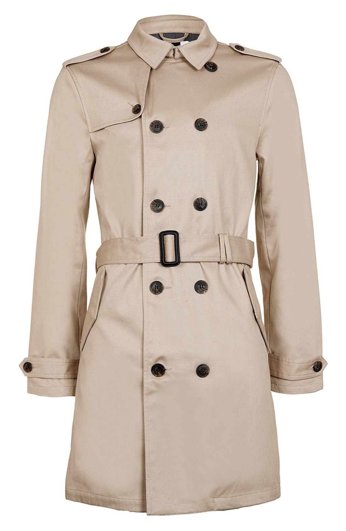 Alternate Image 4  - Topman Double Breasted Trench Coat