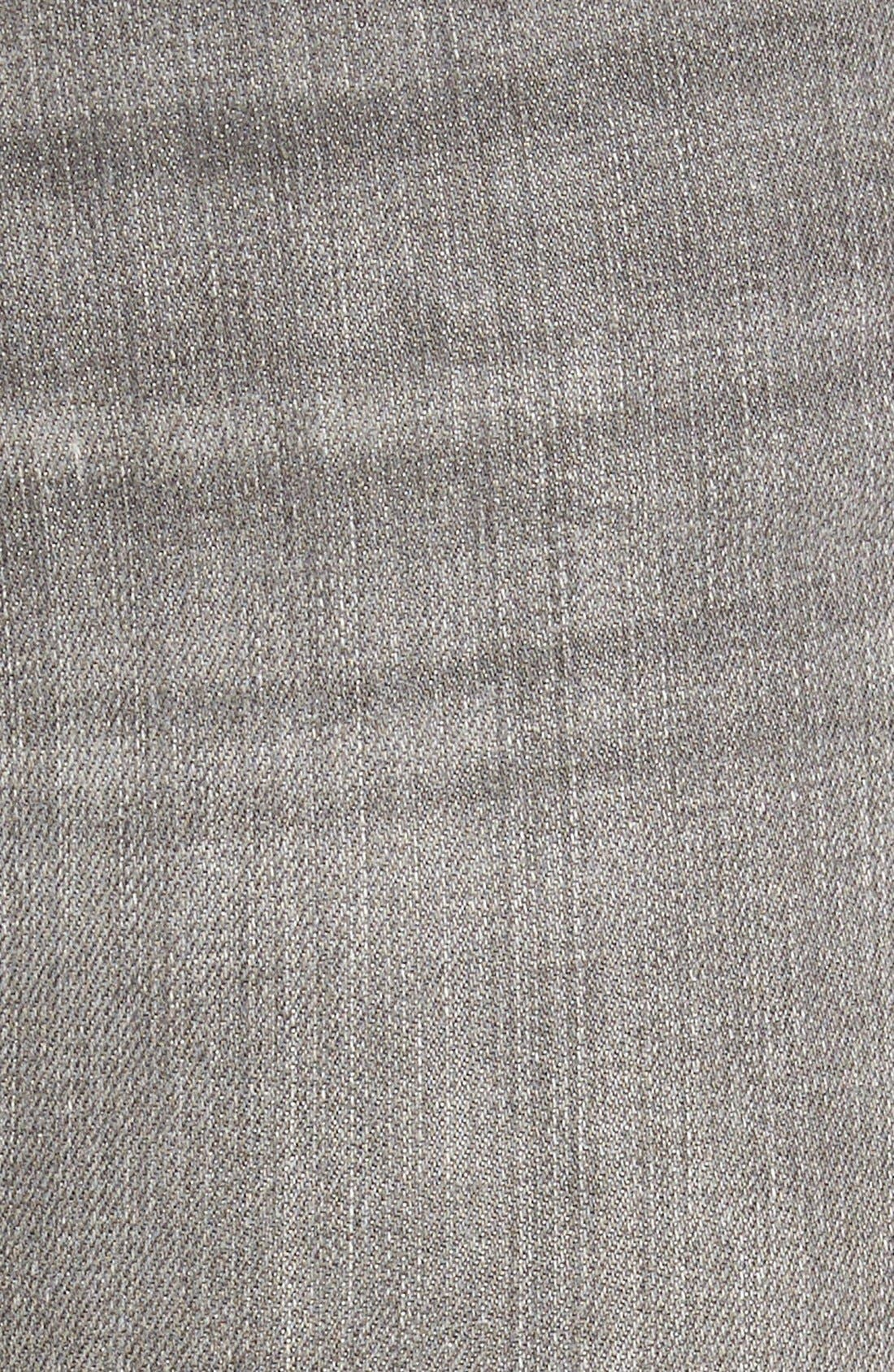 Alternate Image 5  - Mavi Jeans 'Serena' Distressed Stretch Skinny Jeans (Grey Ripped)