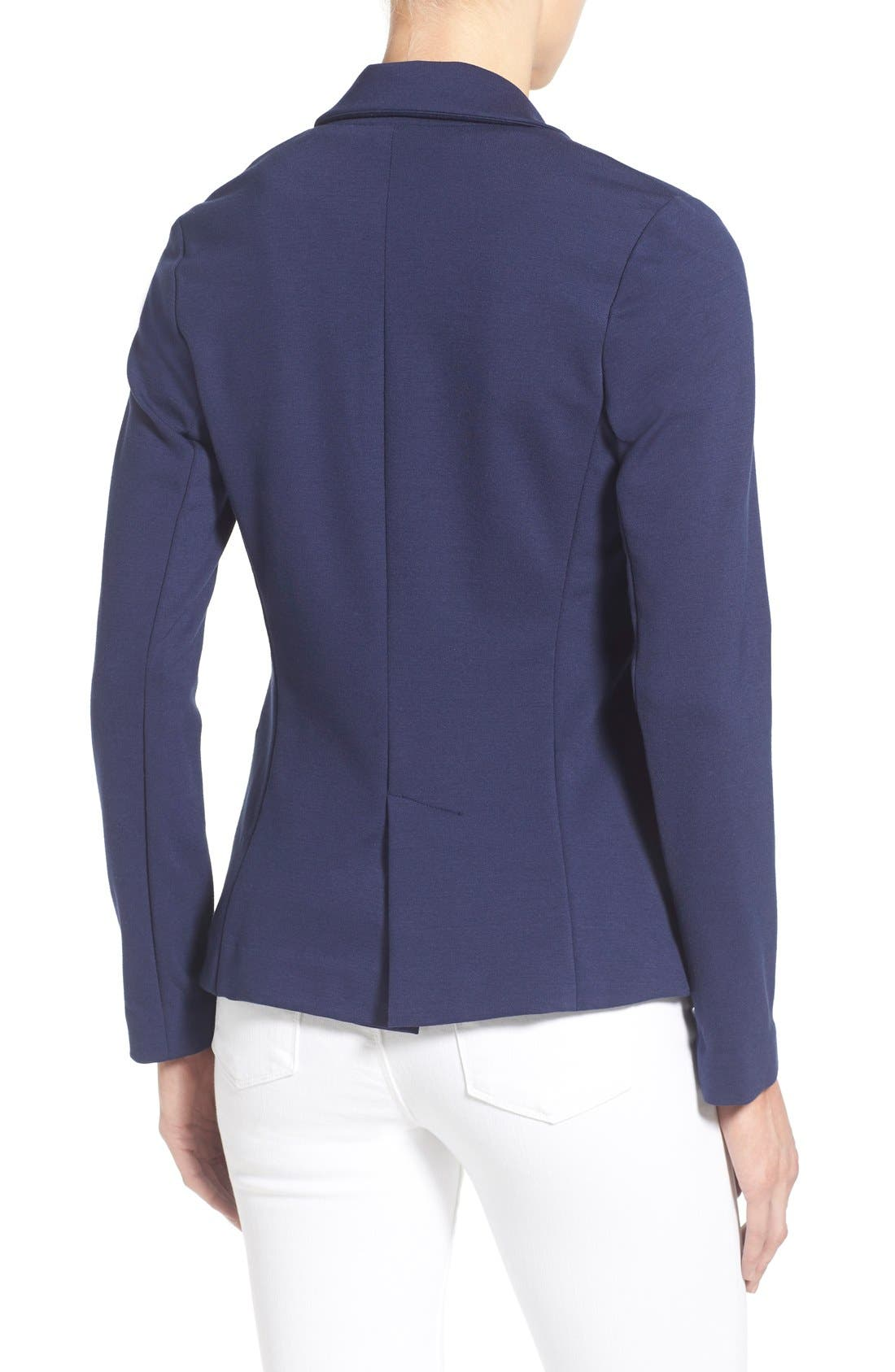 Alternate Image 2  - Olivia Moon Knit Blazer (Regular & Petite)