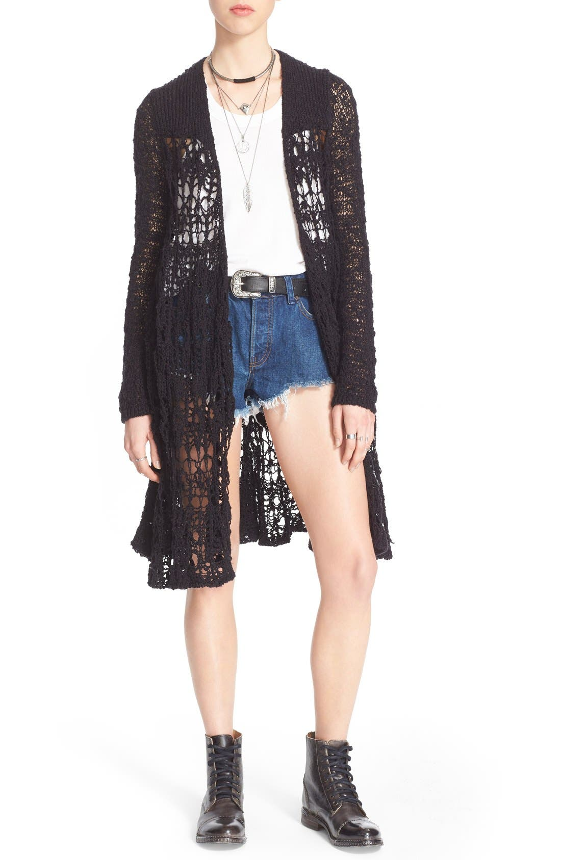 Alternate Image 1 Selected - Free People 'Sacred Geometry' Loose Knit Cardigan