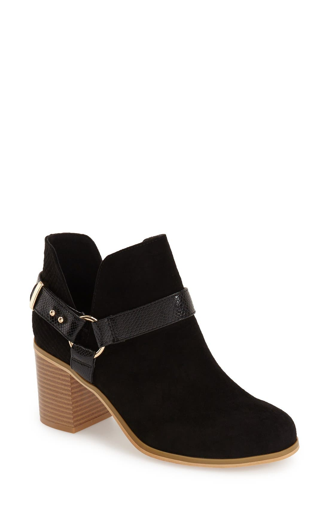 Main Image - Topshop 'Beckley' Ring Strap Bootie (Women)