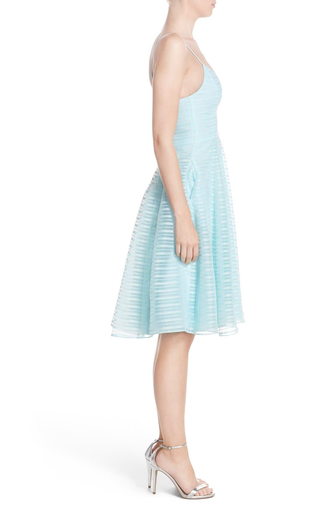 Alternate Image 3  - Halson Heritage Shadow Stripe Organza Dress