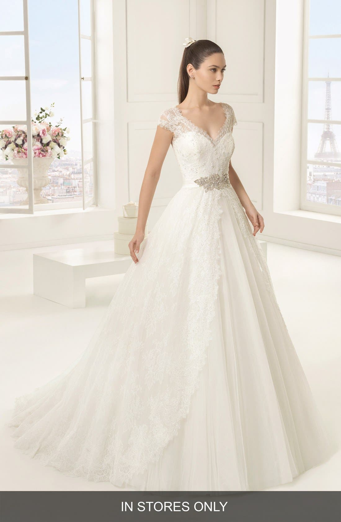 Rosa Clara 'Exotico' Beaded Lace & Tulle Ballgown (In Stores Only)