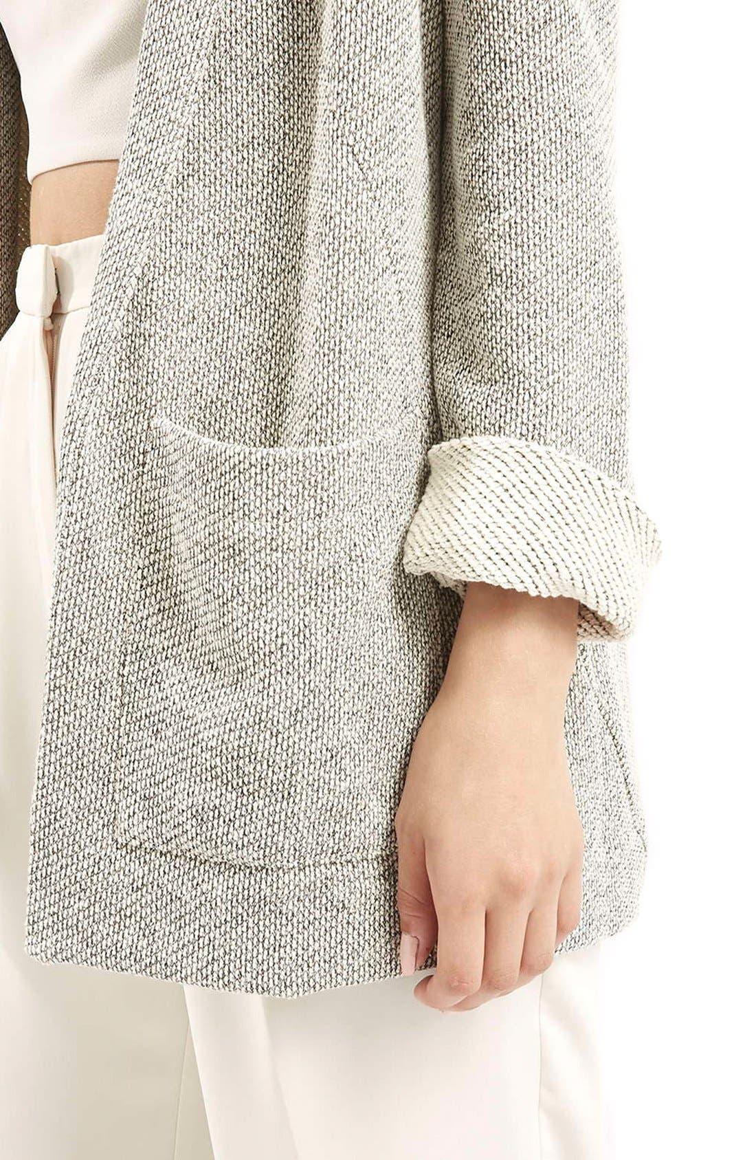 Alternate Image 5  - Topshop Knit Boyfriend Jacket