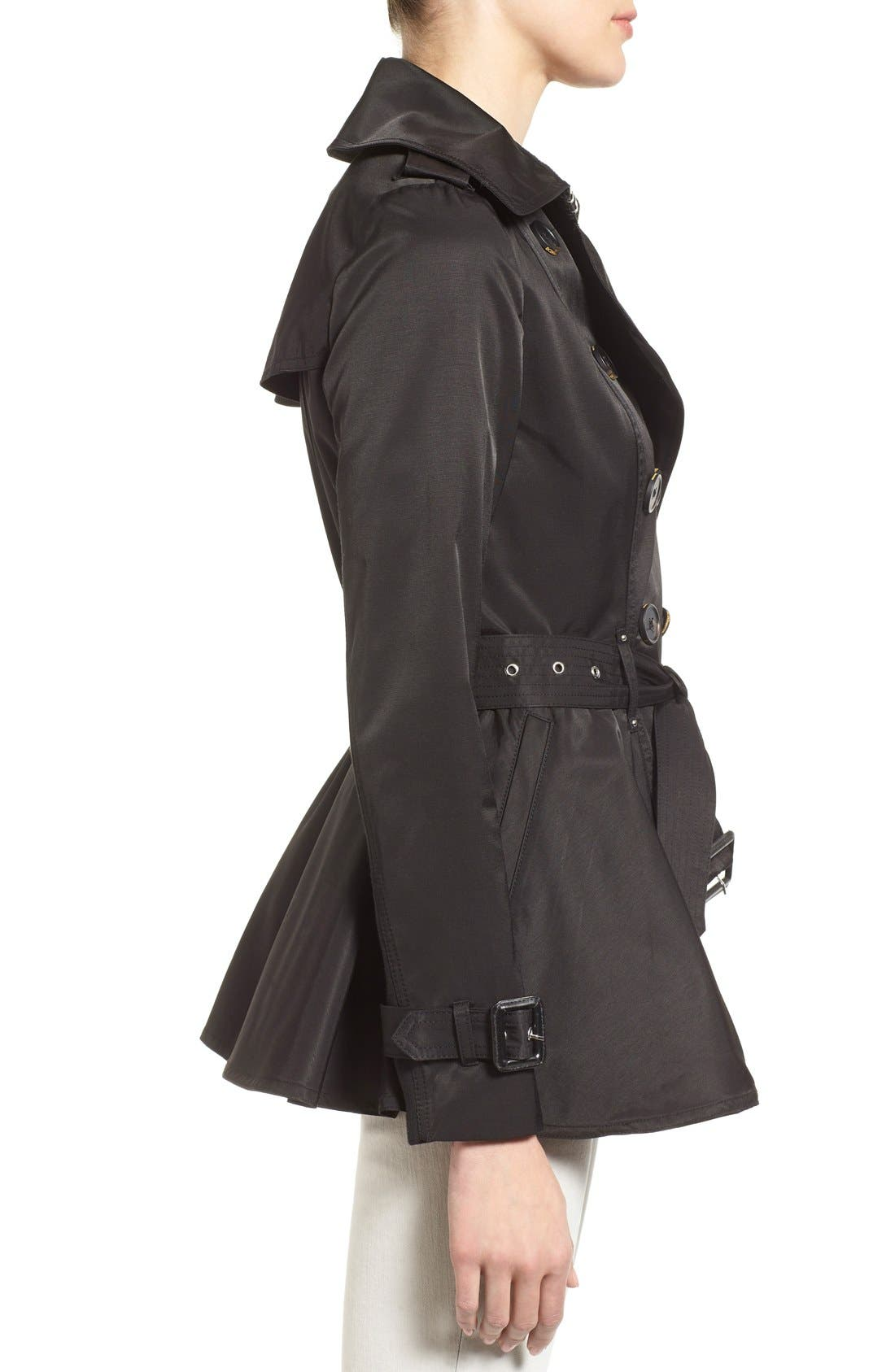 Alternate Image 3  - BCBGeneration Short Double Breasted Skirted Trench Coat