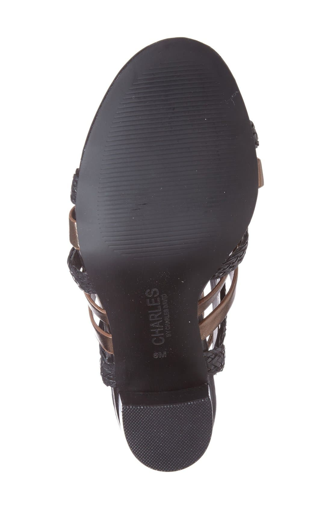 Alternate Image 4  - Charles by Charles David 'Greensboro' Lace-Up Block Heel Sandal (Women)