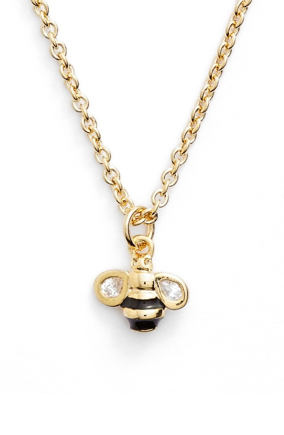 Alternate Image 1 Selected - kate spade new york 'queen bee' mini pendant necklace