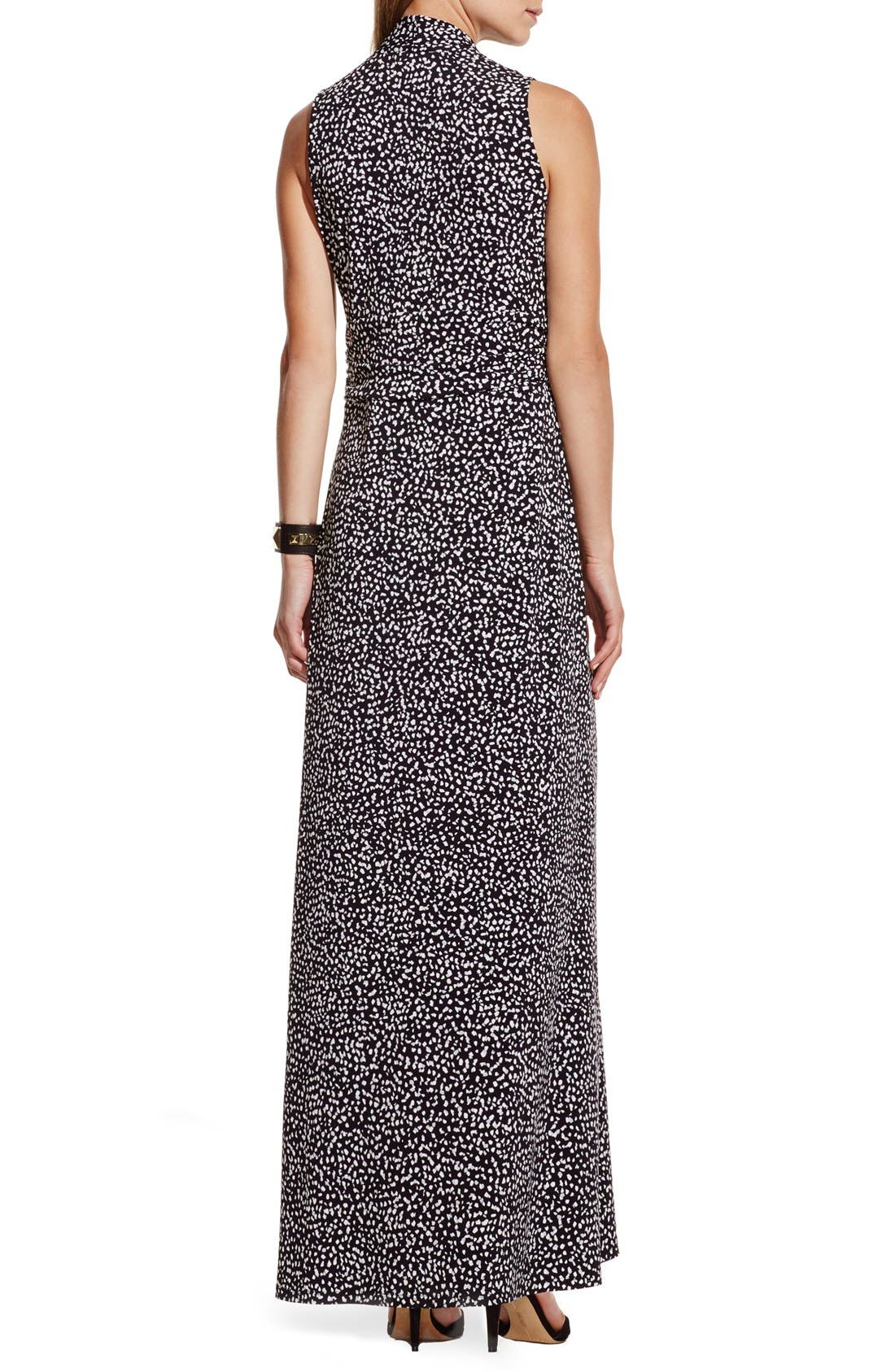 Alternate Image 2  - Vince Camuto Dot Print V-Neck Maxi Dress