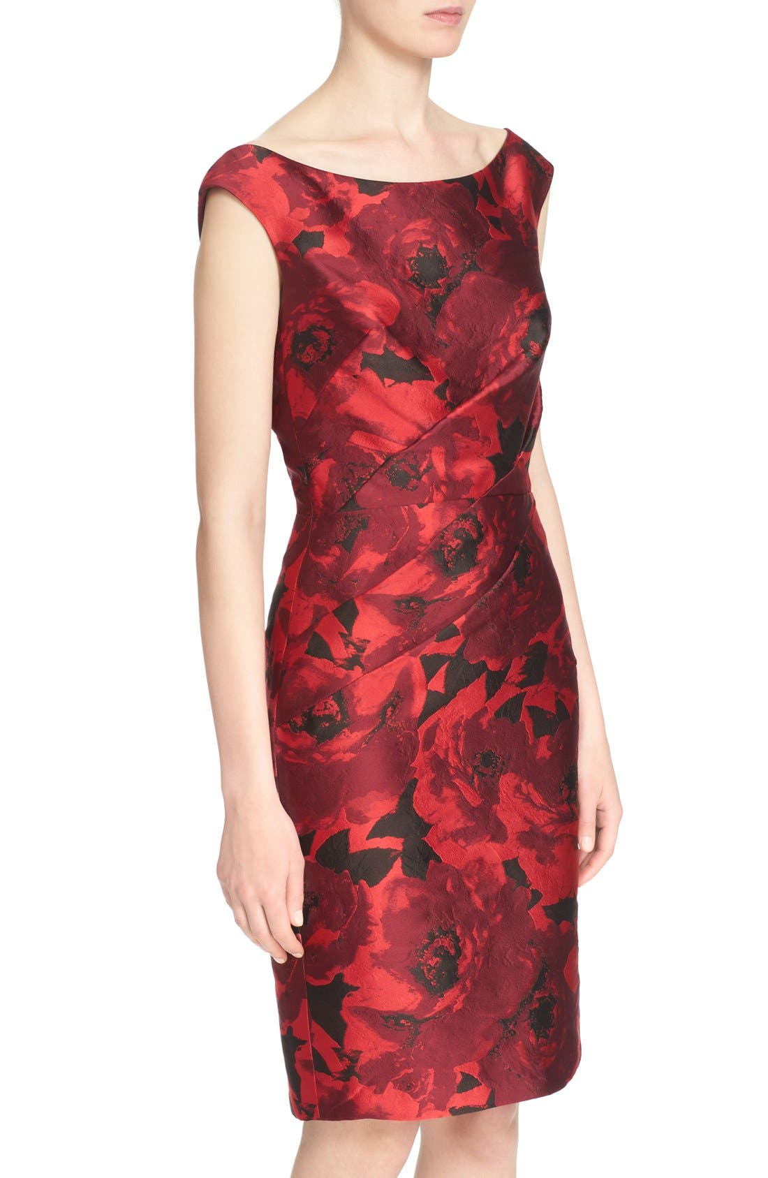 Alternate Image 6  - St. John Collection 'Ombré Peony' Jacquard Sheath Dress