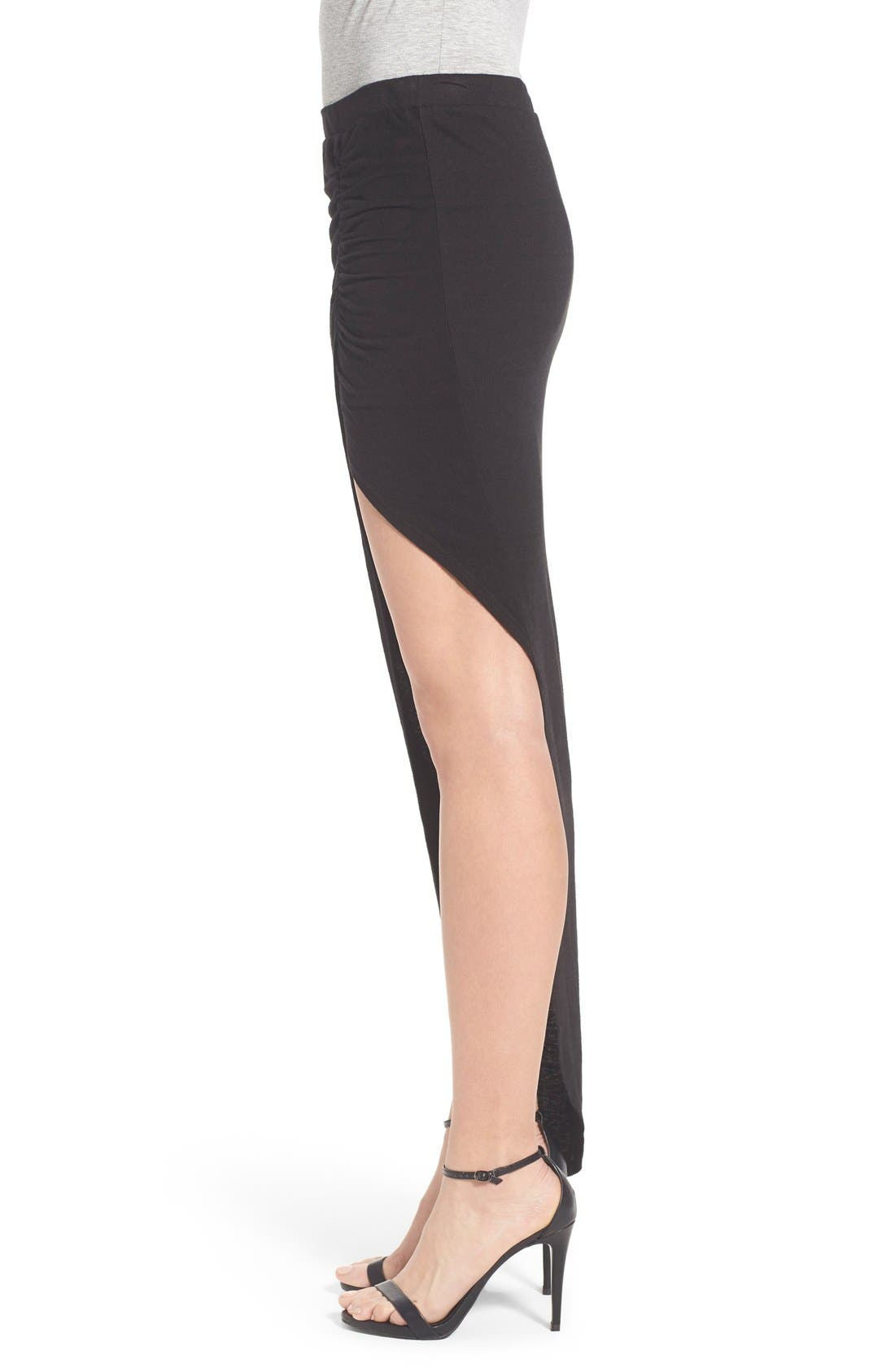 Alternate Image 3  - Pam & Gela Ruched Asymmetrical Maxi Skirt