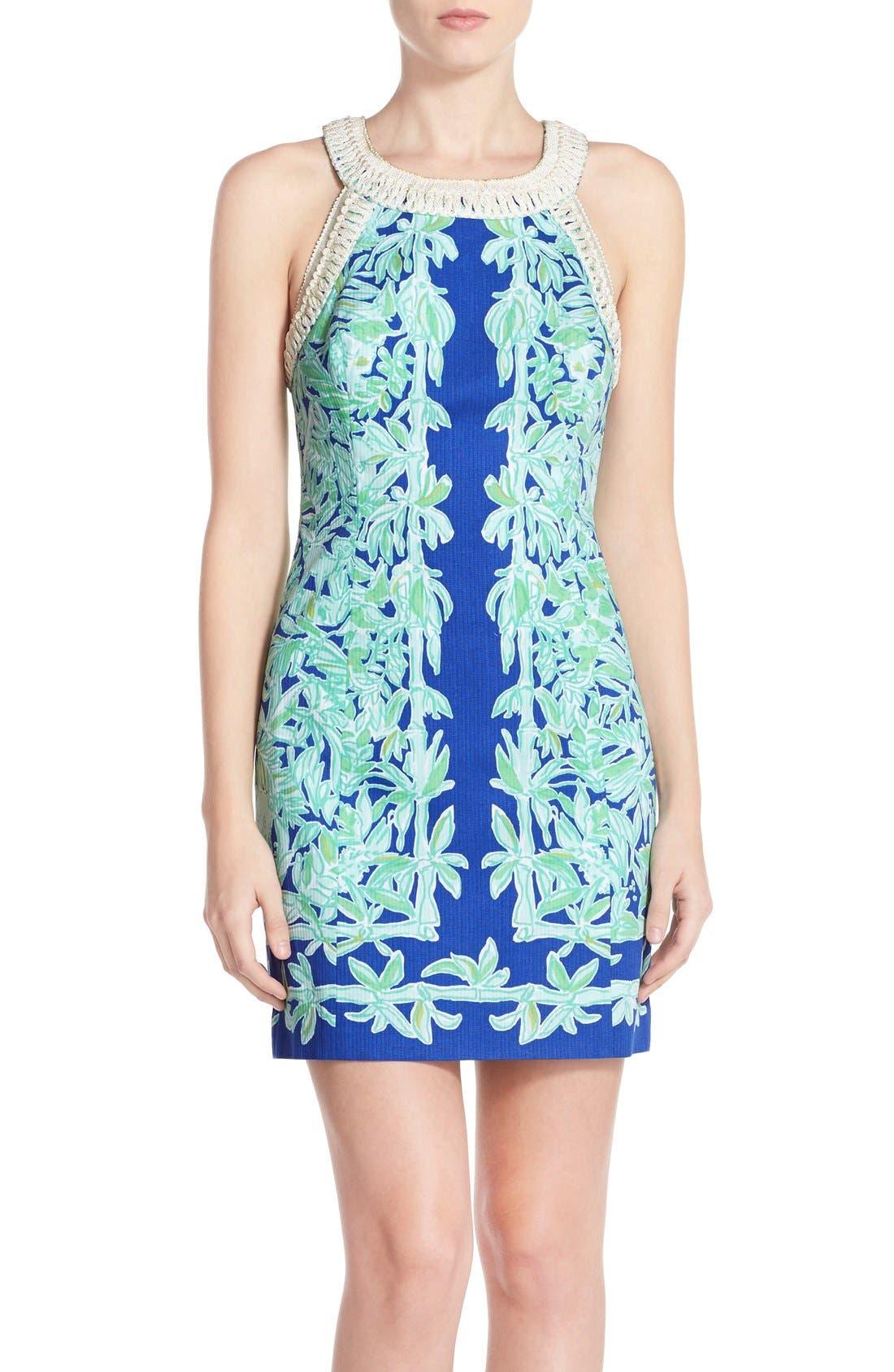 Alternate Image 1 Selected - Lilly Pulitzer® 'Lea' Cotton Shift Sheath Dress