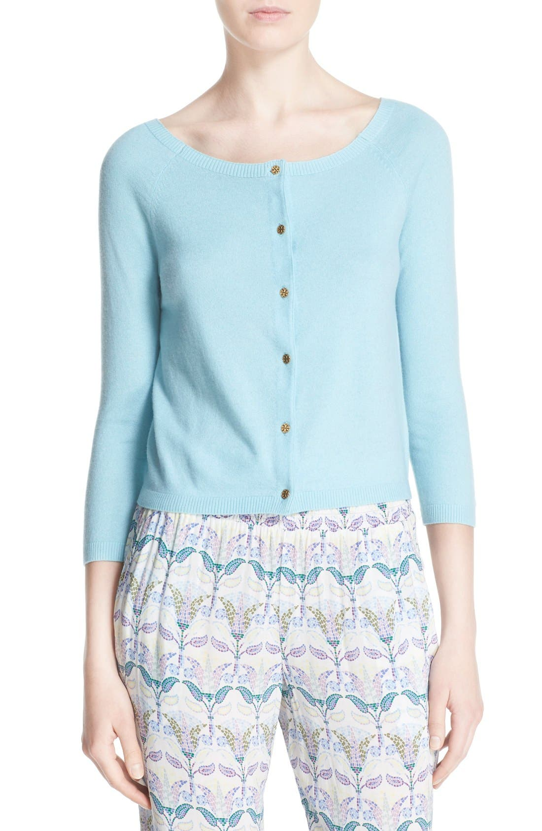 Alternate Image 1 Selected - Tory Burch 'Rosemary' Cashmere Cardigan