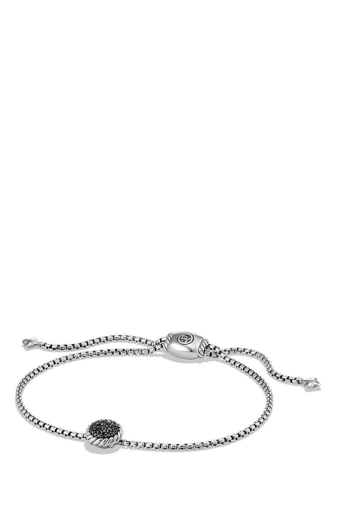 David Yurman 'Châtelaine' Petite Bracelet with Black Diamonds