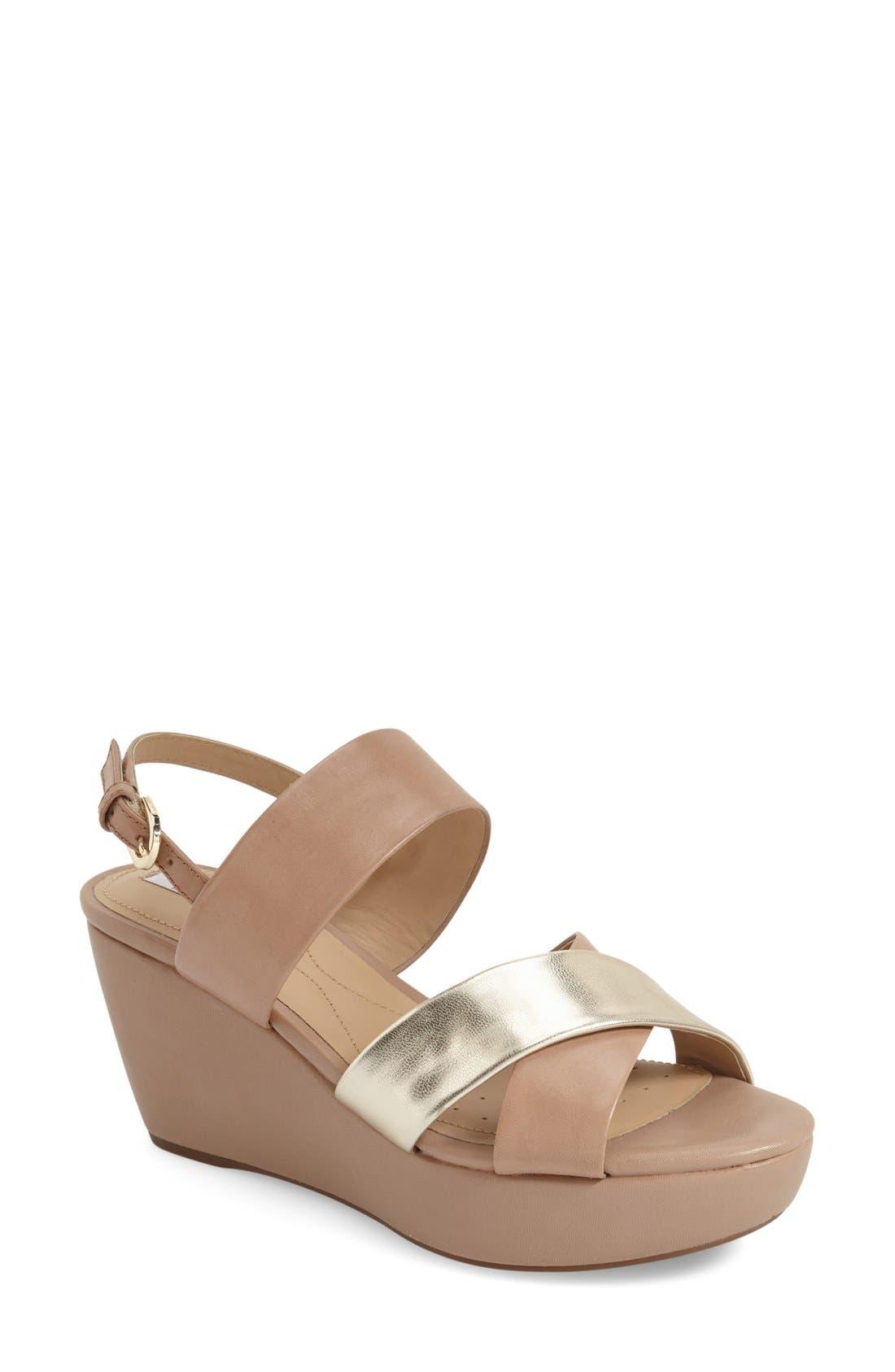 Alternate Image 1 Selected - Geox 'Thelma' Platform Wedge Sandal (Women)