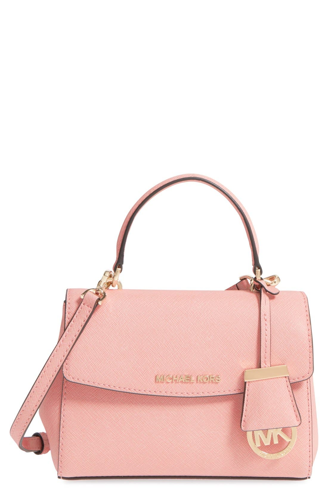Alternate Image 1 Selected - MICHAEL Michael Kors 'Extra Small Ava' Leather Crossbody Bag