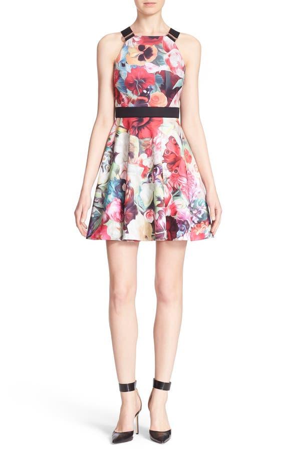 20dd6c77a3eae Main Image - Ted Baker London  Samra - Floral Swirl  Sleeveless Skater Dress.