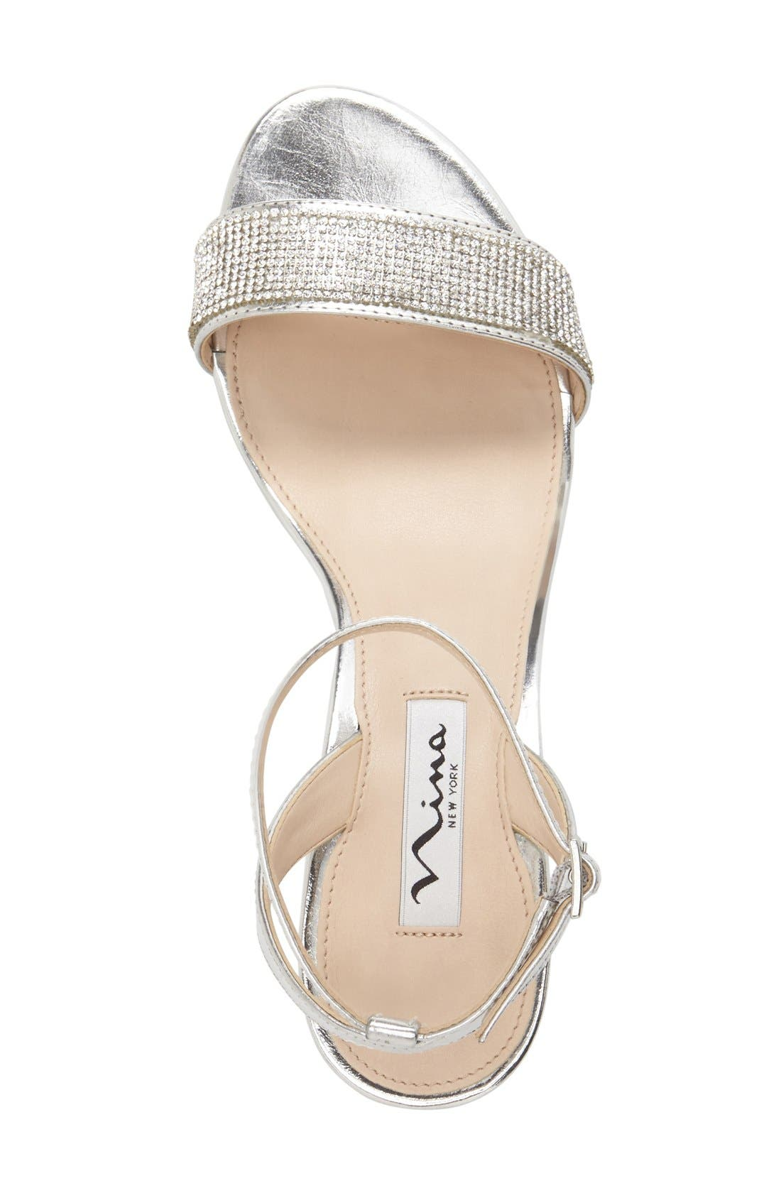 Alternate Image 3  - Nina 'Novia' Embellished Wedge Sandal (Women)