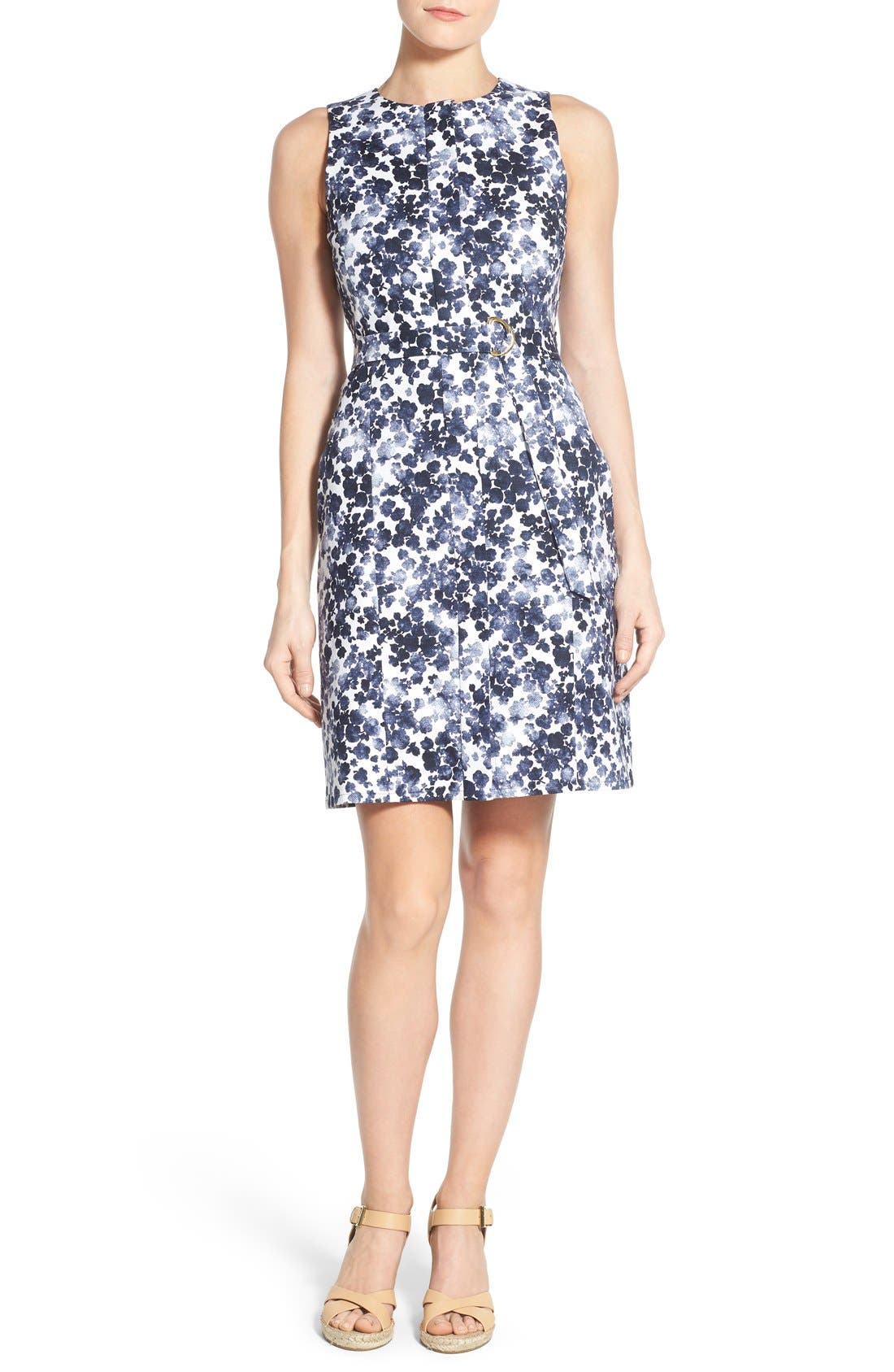 Alternate Image 2  - MICHAEL Michael Kors 'Gemma' Print Belted A-Line Dress