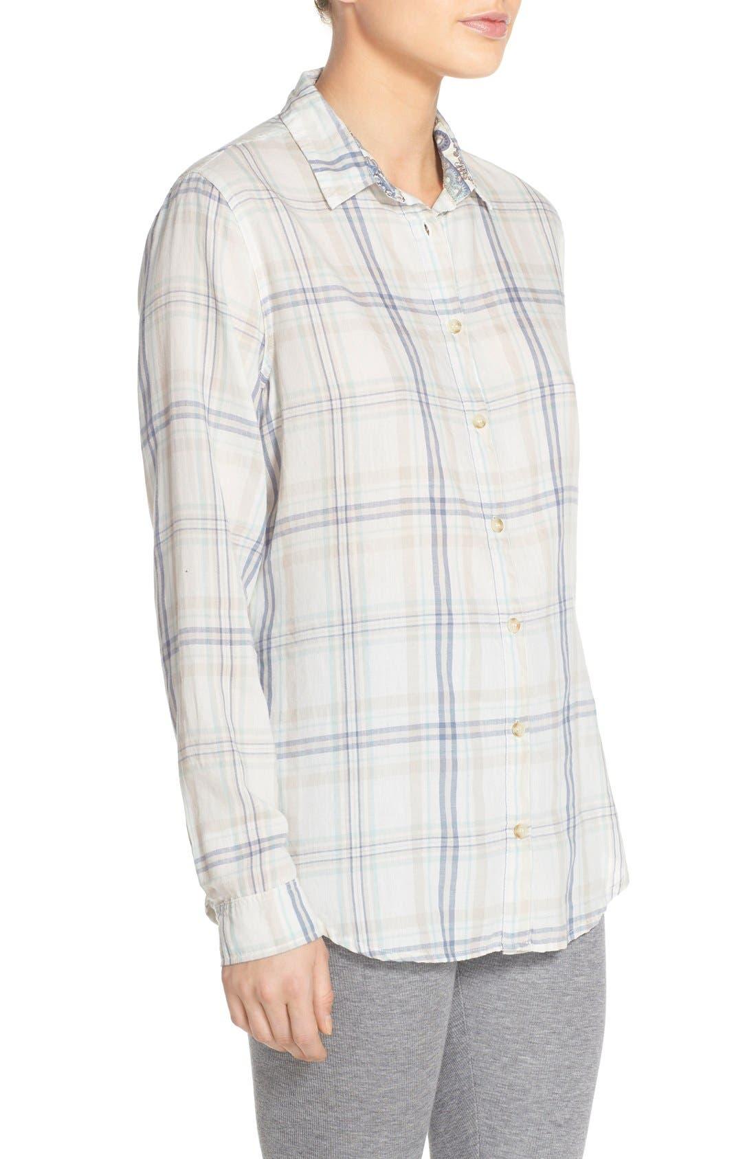 Alternate Image 3  - PJ Salvage Plaid Cotton Twill Shirt