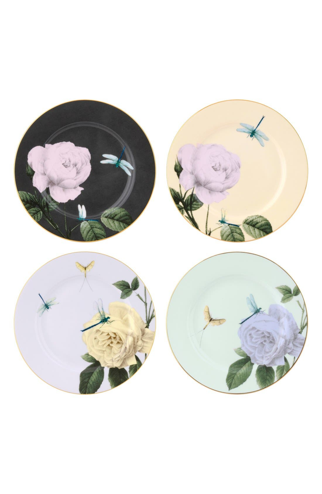 Main Image - Portmeirion x Ted Baker 'Rosie Lee' Bone China Salad Plates (Set of 4)