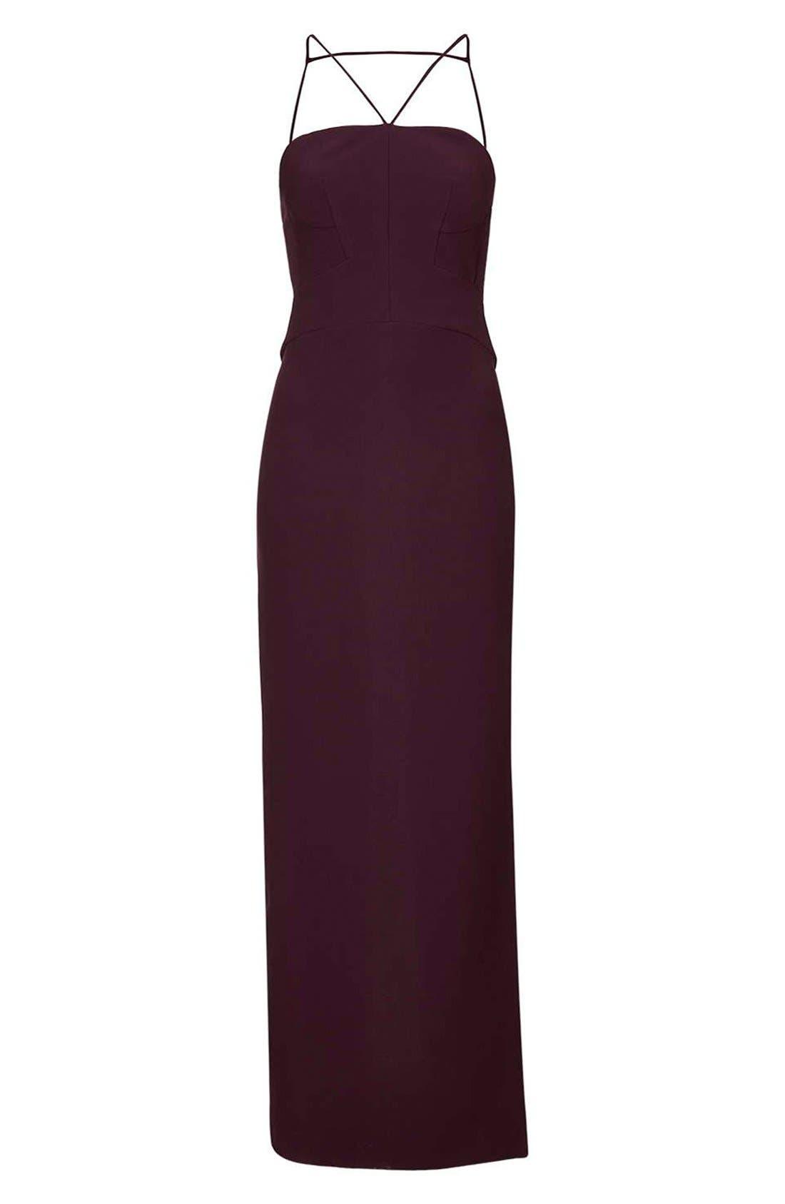 Alternate Image 5  - Topshop Strappy Column Maxi Dress