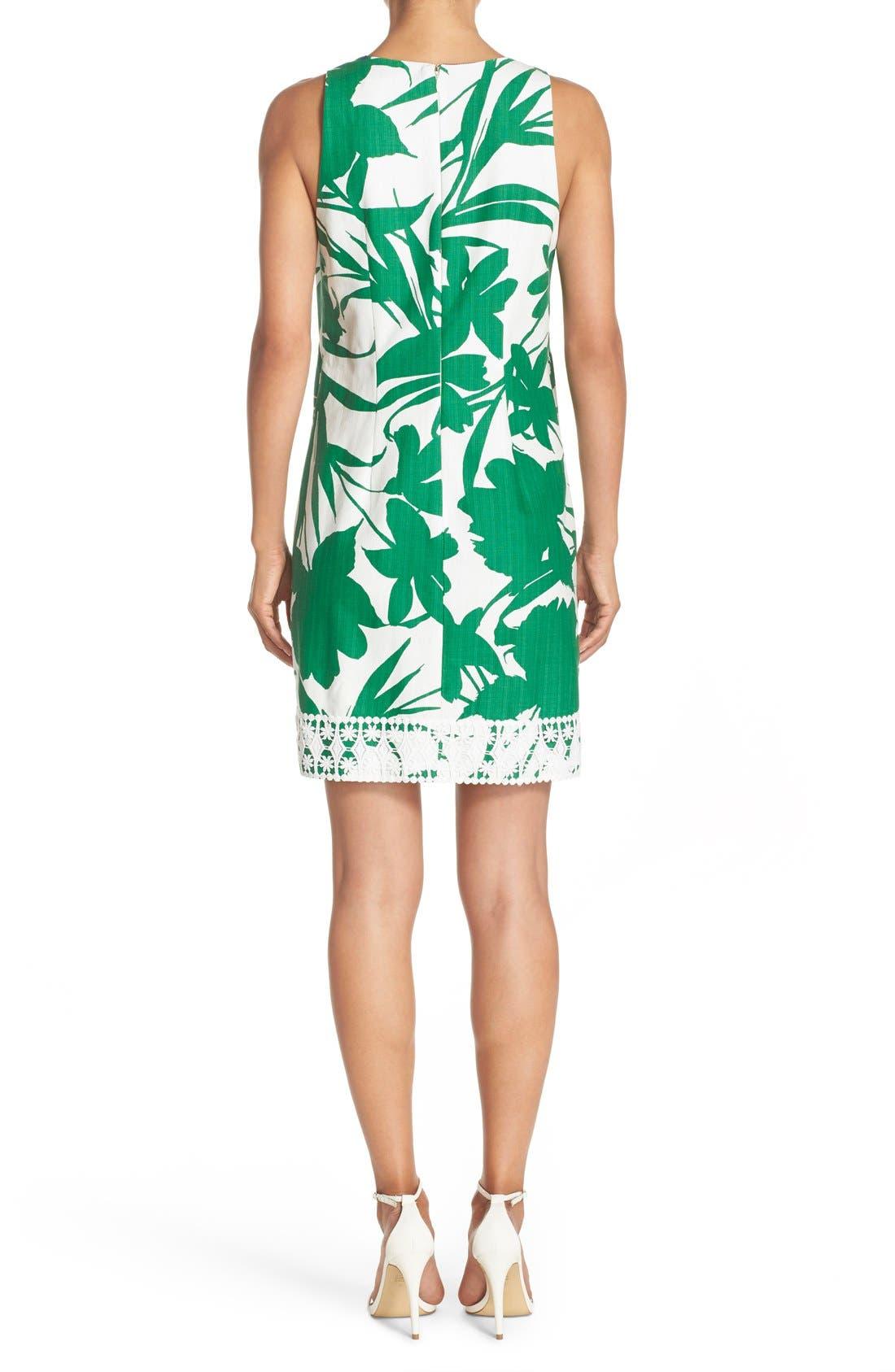 Alternate Image 2  - Eliza J Print Woven Shift Dress
