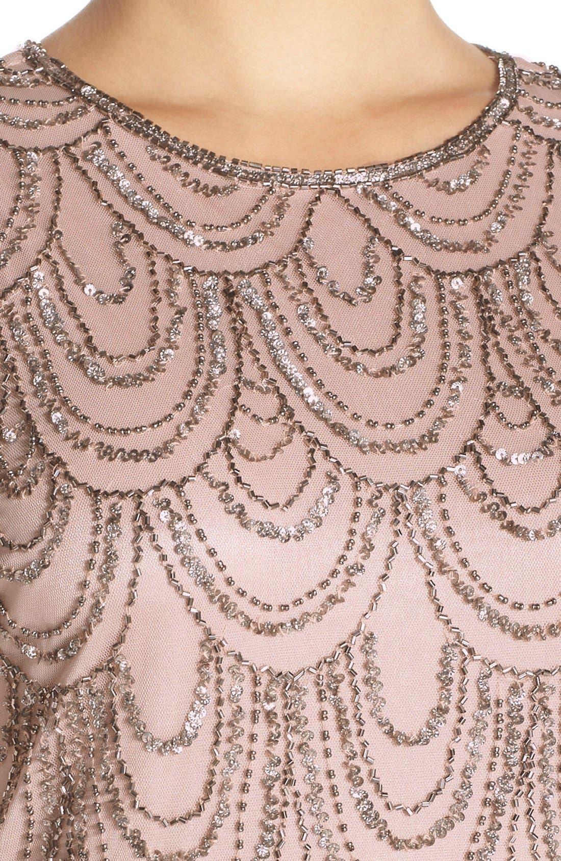 Alternate Image 4  - J Kara Scallop Embellished Popover Chiffon Gown