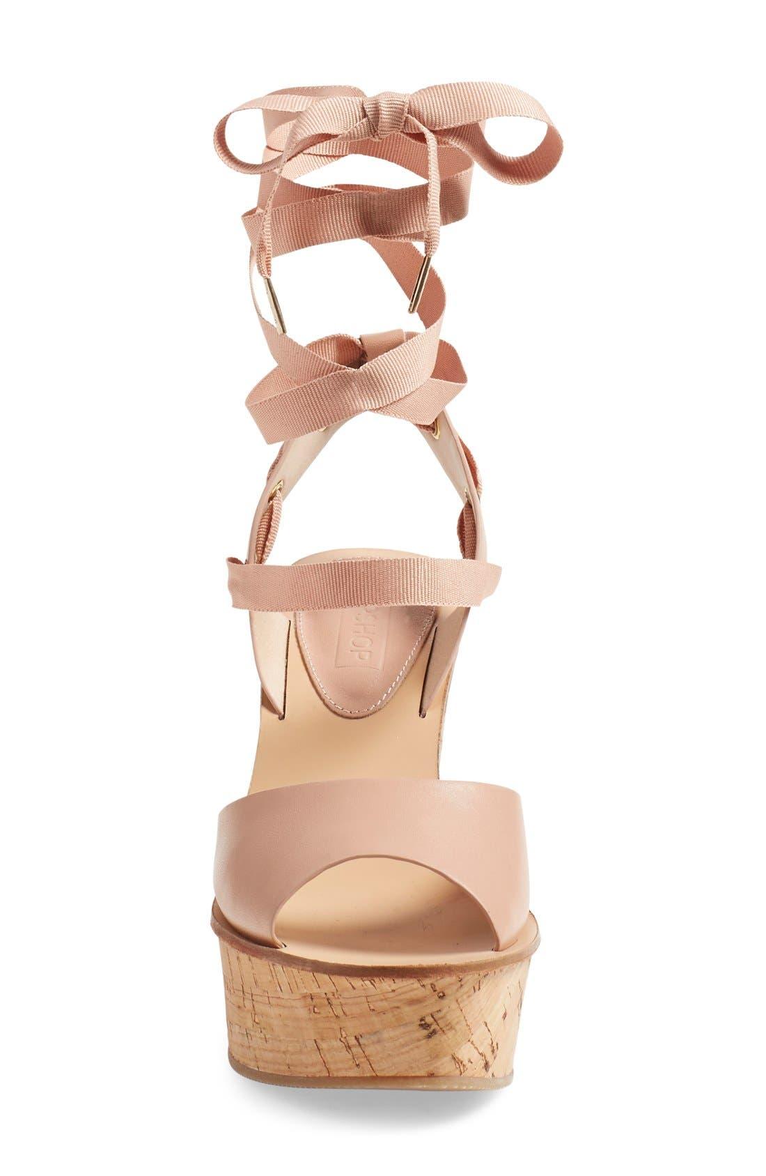 Alternate Image 3  - Topshop 'Wise' Platform Wedge Sandal (Women)