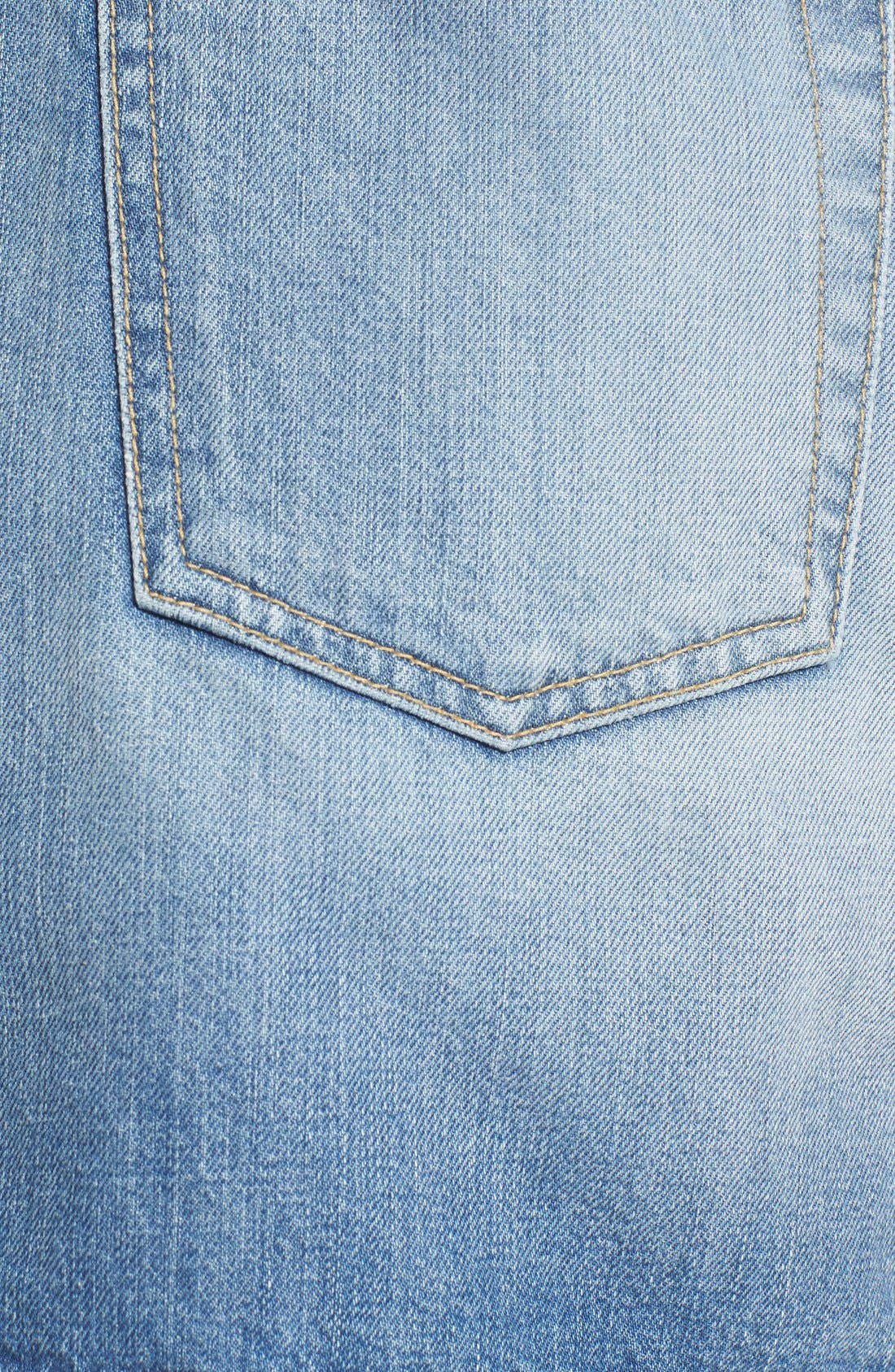 Alternate Image 5  - 7 For All Mankind® Utility Pocket Denim Miniskirt (Vintage Coronado Springs)