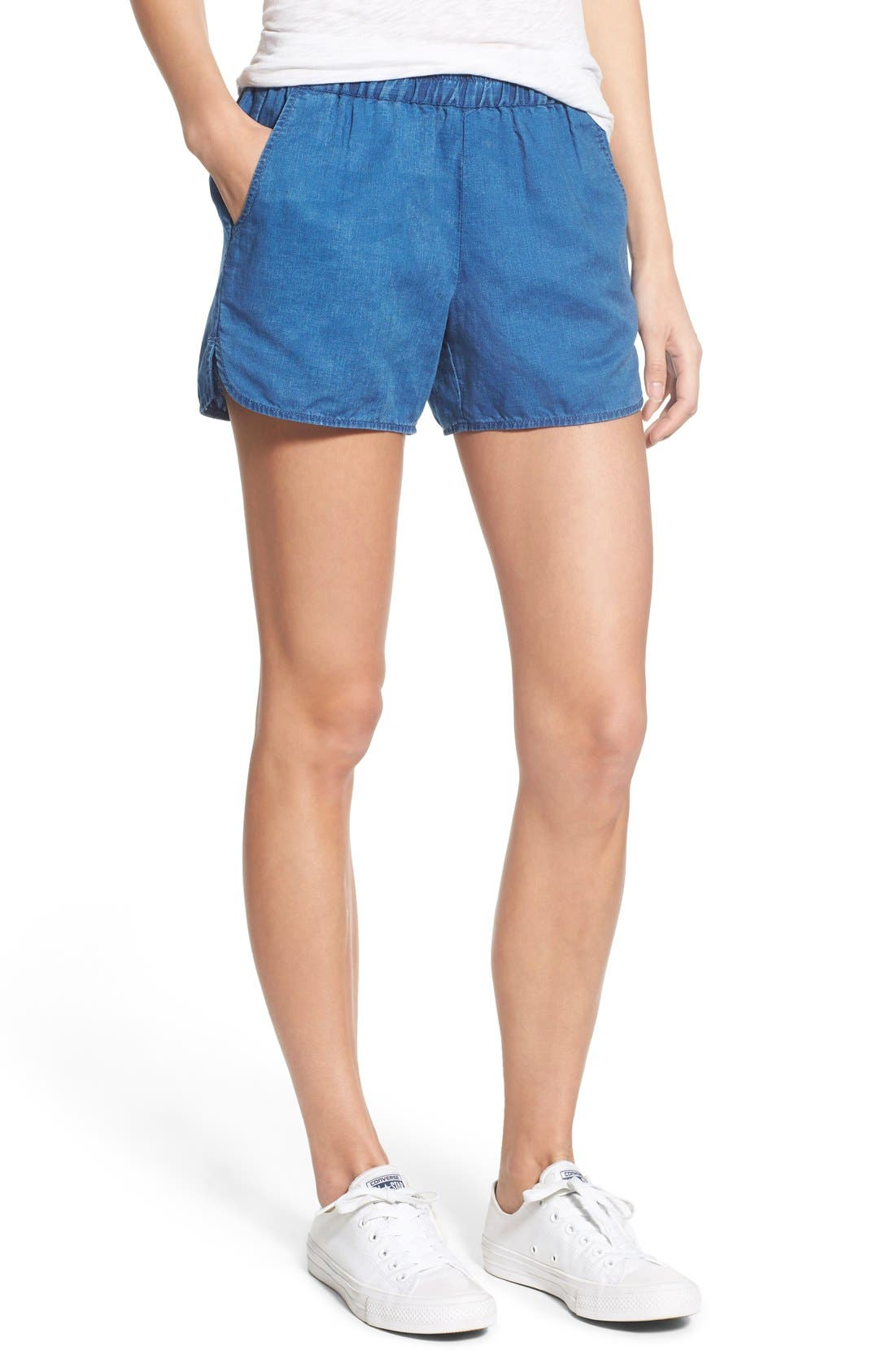 Alternate Image 1 Selected - Madewell Linen & Cotton Pull-On Shorts