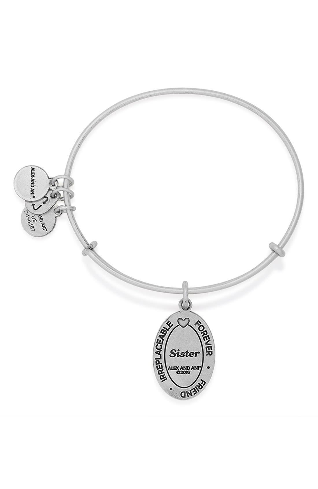 Alternate Image 3  - Alex and Ani 'I Love You Sister' Expandable Wire Bangle
