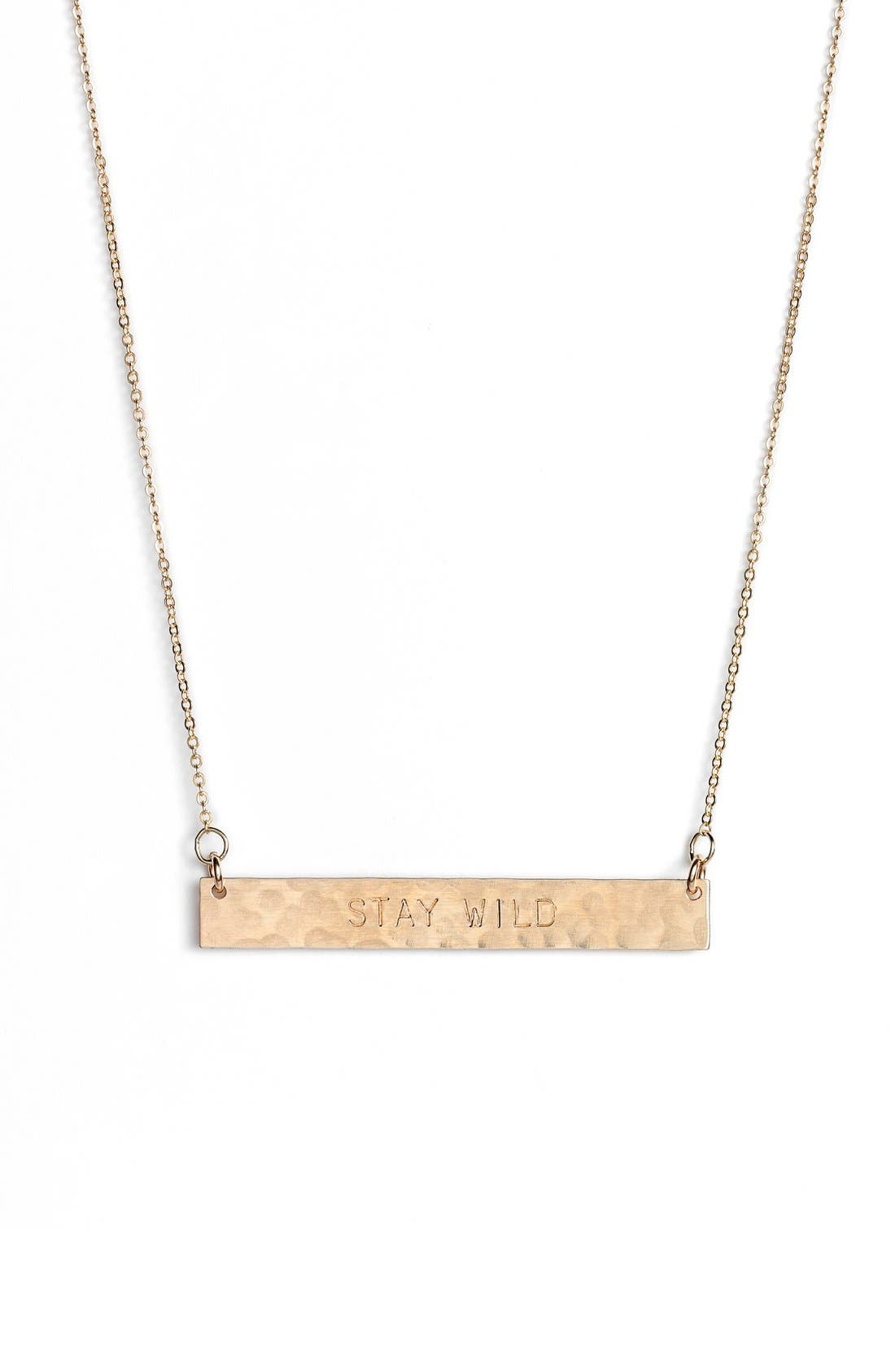 Nashelle 14k-Gold Fill Stamped Bar Pendant Necklace