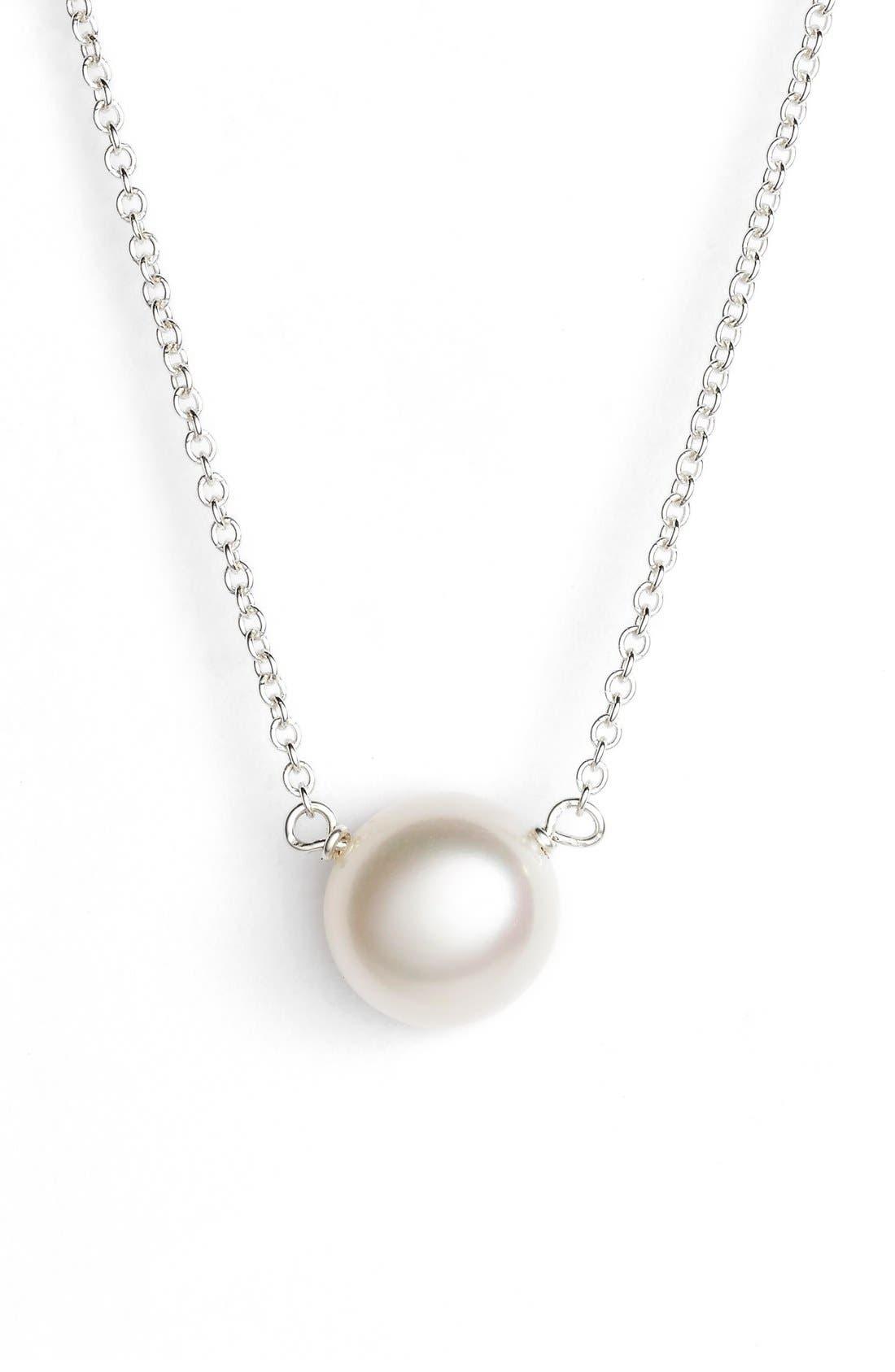 Alternate Image 2  - Dogeared 'I Love Mom' Pearl Pendant Necklace